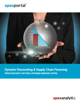 apexportal Dynamic Discounting and Supply Chain Financing Brochure Cover