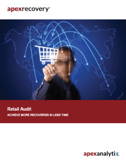 apexrecovery Retail Audit Brochure Cover