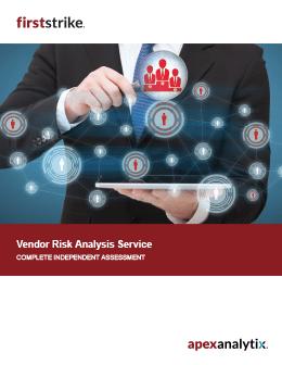 FirstStrike Vendor Risk Analysis Brochure Cover