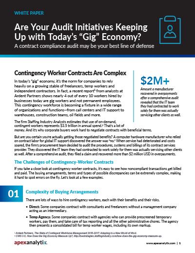 Contract Compliance Gig Economy White Paper Cover Image