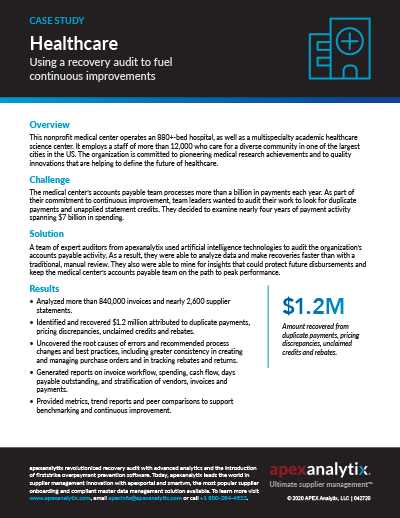 Healthcare Recovery Audit Case Study Image