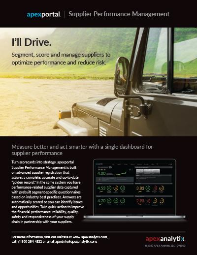 apexportal Supplier Performance Management Image