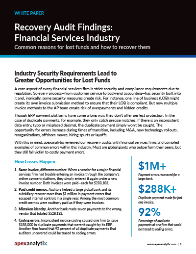 Recovery Audit Findings White Paper Image