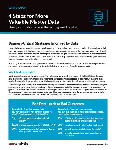 Master Data Management White Paper Image