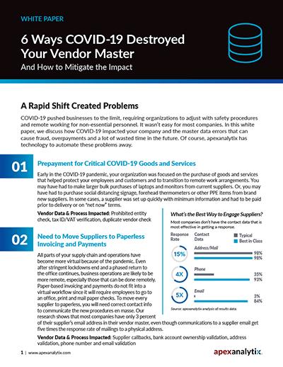 COVID-19 and Vendor Master White Paper Image