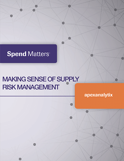 Spend Matters Supplier Risk Management Document Cover