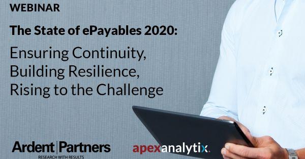 The State of ePayables 2020  Webinar
