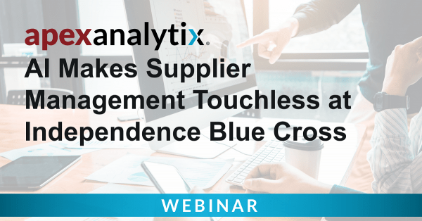 AI Makes Supplier Management Touchless at Independence Blue Cross cover image